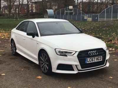 Audi A3 2.0 TDI 184 Quattro Black Edition 4dr S Tronic [7] Saloon Diesel White at Adams Brothers Subaru Aylesbury